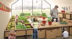 """Not only do the children at the school, called """"Nursery Fields Forever,"""" learn about sustainable energy from the solar panels and wind turbines, the entire school campus is designed to teach children how to farm. Developed by Edoardo Capuzzo Dolcetta and his team of Rome-based designers, the pre-school campus brings...More"""