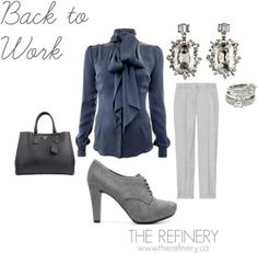 Work outfit ideas from The Refinery in Toronto.