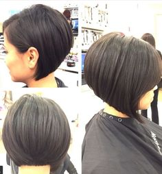 Sassy assymetrical bob on my gorgeous client! @melanies_hair_artistry Great short haircut for summer.