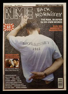 Kevin Cummins Oct 91 NME Morrissey in Japan cover.