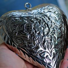 vintage big metal HEART... pendant... from an by CoolVintage, $19.50