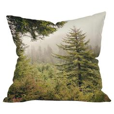 Bring a touch of natural appeal to your living room seating group with this eye-catching pillow, showcasing a woodland motif.  Produ...