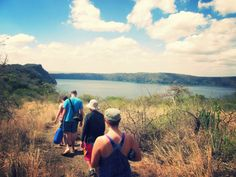 Hiking down to the waterfront from our campsite #lakechala #africa #tanzania #lakes #hiking #camping #travel