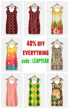 40% off everything on my fashion store. #deals #sale #coupons Ends 2/29 Midnight PT. #fashion #womenswear #womensclothing #simpledress available too as #leggings They are in lots of designs. Check them all at bit.ly/fashionpatterns - @liveheroes