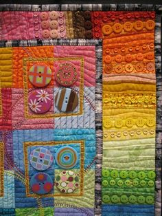 createcreatively:    Button Quilt close up by Karen G. Fisher