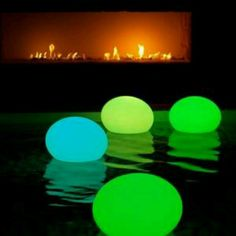 Glow stick inside a balloon. Fun party lights for the pool!