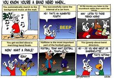 Marching Band Humor | Tales From Band Camp - You Know You're a Band Nerd When…