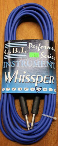 "C.B.I. Whissper Classic Double Heat Shrink 20' 1/4"" 22 Gauge Instrument Cable Blue"