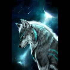 Star Wolf short sleeve crew neck T-shirt - knowsan.com Ice Wolf Wallpaper, Tier Wallpaper, Animal Wallpaper, Mobile Wallpaper, Colorful Wallpaper, Wallpaper Awesome, Beautiful Wallpaper, Black Wallpaper, Flower Wallpaper