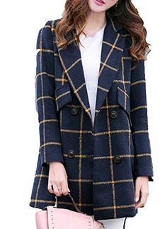 MEXI Women's Winter Lapel Two Button Plaid Long Woolen Coat Clothes Outerwear MEXI http://www.amazon.ca/dp/B016WGFA5A/ref=cm_sw_r_pi_dp_1flkwb1P3DD3A