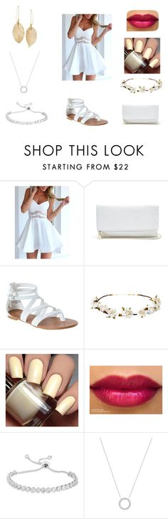 """""""A White Summer"""" by preciousdieyi on Polyvore featuring GUESS, Cult Gaia, Michael Kors and Lulu*s"""