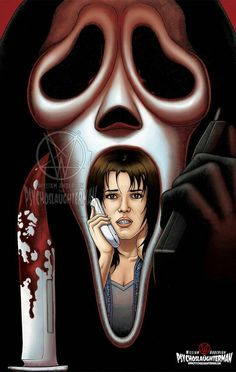 """Horror Movie Art : """"Scream"""" by William Anderson aka PsychoSlaughterman @ deviantart Horror Icons, Horror Movie Posters, Horror Movies, Scream Art, Scream Movie, Ghostface Scream, Slasher Movies, Scary Movies, Awesome Movies"""