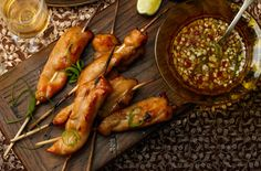 Hot and spicy chicken skewers