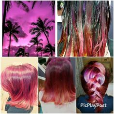 Joico  color intensity  fushia sunset copper amythist  yellow Joico Color, Vivid Hair Color, Copper, Sunset, Yellow, Unique, Brass, Sunsets, The Sunset