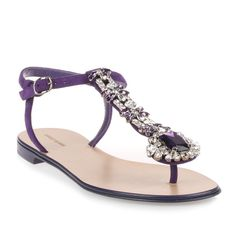 Manolo Blahnik Esfiratomod Flat Purple Suede Sandal (£825) ❤ liked on Polyvore featuring shoes, sandals, purple, strap sandals, t-strap flat sandals, ankle strap sandals, jeweled sandals and ankle wrap flat sandals