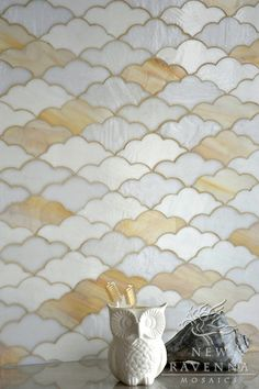 Clouds, a jewel glass mosaic in Opal, Agate, and Moonstone, is part of the Erin Adams Collection for New Ravenna Mosaics.    Copyright New Ravenna Mosaics 2012
