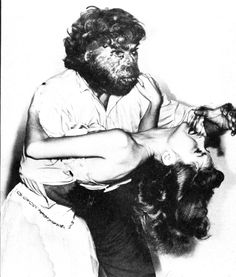 Beverly Garland in the clutches of The Neanderthal Man, 1953