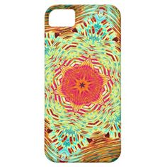 Turquoise Teal Yellow Pink Orange Mosaic Pattern Apple iPhone SE + 5/5S case