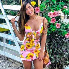 Hot Outfits, Girl Outfits, Summer Outfits, Summer Of Love, Summer Looks, Latina Girls, Cute Swimsuits, Girl Fashion, Womens Fashion