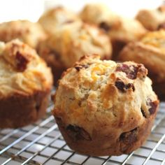 It's a muffin with bacon and cheddar. Done and done.