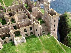 Slains Castle in Aberdeenshire Scottland.  The original inspiration for Bram Stoker's Dracula.
