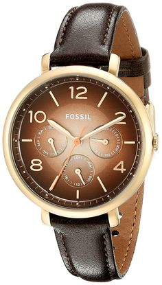 Fossil Women's ES3898 Analog Display Analog Quartz Brown Watch * Click on the watch for additional details.