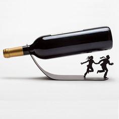 Weinflaschenhalter // wine bottle holder via DaWanda.com