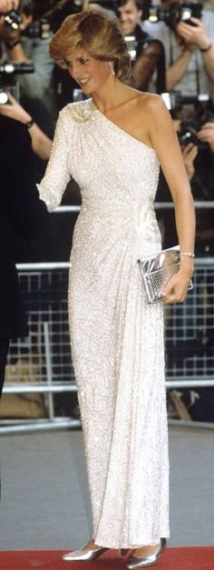 Diana, Princess of Wales in Hachi - 1983 i have seen this dress,the beading is so beautiful . #RoyalSerendipity #Diana #Princess Princess Diana