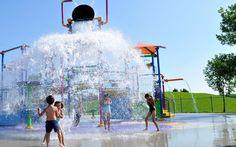 Splash pad at Kidstown Water Park