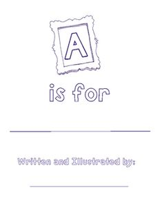 Free printable Alphabet book -- could be used with any theme!