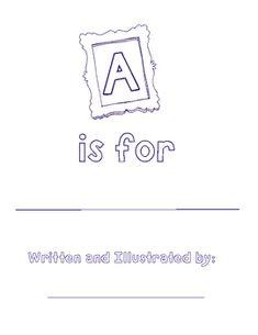 FREE Alphabet Book Template