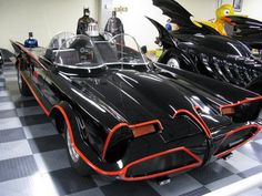 60's TV show Batmobile...designed by Sid Barris, based on a Lincoln Futura concept car.