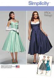 robe de soirée bustier vintage années 50