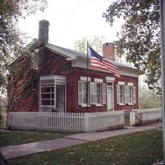 Inventor Thomas Alva Edison (1847-1931) was born in this brick house in Milan, Ohio on February 11, 1847.