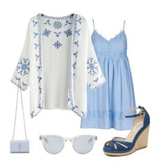 Pretty dress outfit! So nice for college. And also so lovely for beach travel. Love the embroidered kimono, just so beautiful! Check the White Embroidered Top here.