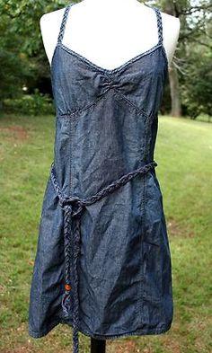 Womens Blue Denim Chambray Jean Mini Dress Grunge Revival Nasty Gal Old Navy 6   eBay
