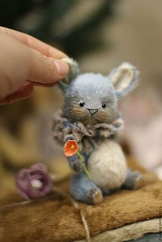Купить Blume - комбинированный, зайка тедди, зайка, игрушка зайка, заяц тедди, тедди, вискоза