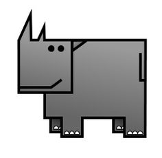 It's huge . It's large . It's a cartoon rhino ready to be sketched! Basic Drawing, Drawing Lessons, Simple Cartoon, A Cartoon, Doodle Drawings, Cute Drawings, Save The Rhino, Funny Cartoons, Learn To Draw