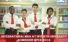INTERNATIONAL MBA,Invertis University Bareilly offering wide range of courses pertaining to different fields of study.  #JoinINVERTIS #AdmissionOPEN2016