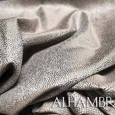AMARE ▪️ Semi-plain jacquard, inspired by stingray skin, enjoys all the practical qualities of a polyester-viscose composition but has the feel and appearance of a natural one.    #alhambra #alhambraint #alhambrafabrics #magaracollection #amare #newcollections #design #fabrics #trends #happywednesday
