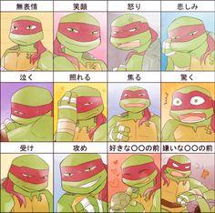 TMNT: Raf's Emotions by ~sensei48 on deviantART