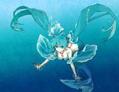 Fanfics - Die Shadow-Piraten und Ruffy (MM-FF) (Fanfic von Serri-chan) Hatsune Miku, Anime Art Girl, Manga Art, Manga Anime, Anime Girls, Fantasy Mermaids, Mermaids And Mermen, Anime Mermaid, Mermaid Art