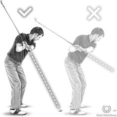 Your backswing is too flat if the butt end of your club points above the golf ball at the halfway back position of the backswing Golf Tiger Woods, Woods Golf, Golf Humor, Sports Humor, Golf Backswing, Golf Ball, Bowling Ball, Golf Quotes, Golf Lessons
