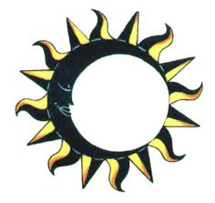 Moon Stars Tattoos on Sun Moon Ring Tattoo Free Tattoos Designs   Tattoo Images. We could put the words in the middle.