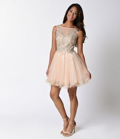 Enchanting and alluring, this sexy champagne short dress is meant for a special…