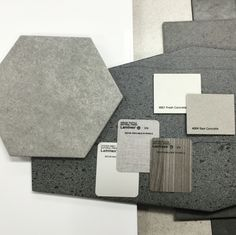 #nationaltiles #tiles #hexagon #trend #concrete #laminex #samples #grey #interiordesign #interiordesigner #caesarstone