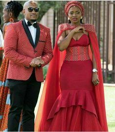 African Wedding Attire, African Attire, African Wear, African Dress, South African Wedding Dress, Couples African Outfits, Couple Outfits, Traditional Wedding Attire, Traditional Outfits