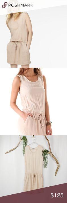 96b35cfd3fdfd JAMES PERSE collage shell dress blush pink NEW 416 100% viscose Shoulder  seam to hem