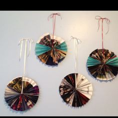 Homemade party decorations for a fashionista using advertisements from Vogue! #vogue