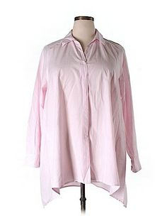 Lane Bryant Women Long Sleeve Button-Down Shirt Size 18/20 (Plus)